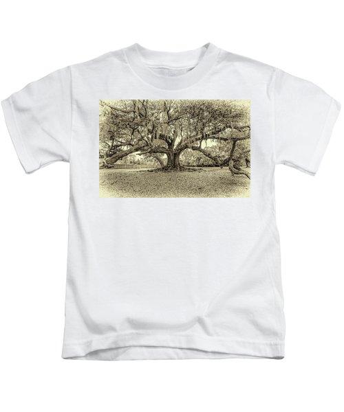 The Tree Of Life Sepia Kids T-Shirt
