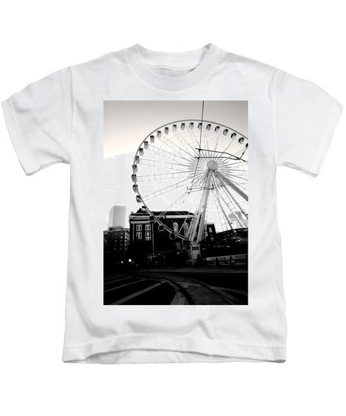 The Wheel Black And White Kids T-Shirt