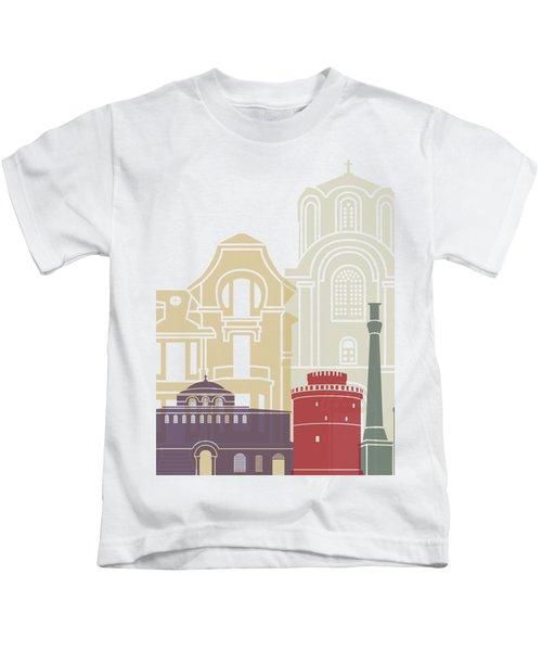 Thessaloniki Skyline Poster Kids T-Shirt
