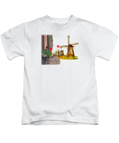 Thinkin Bout Home Kids T-Shirt by Larry Bishop