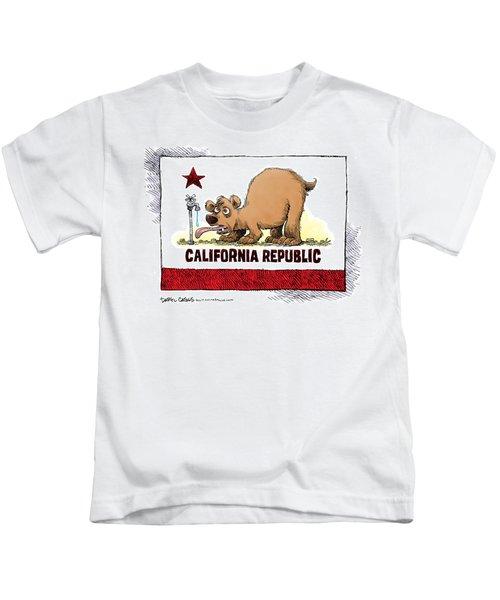 Thirsty California Flag Kids T-Shirt