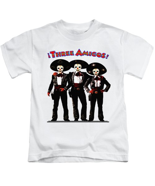 Three Amigos - Day Of The Dead Kids T-Shirt