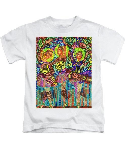 Three Ballerinas Kids T-Shirt