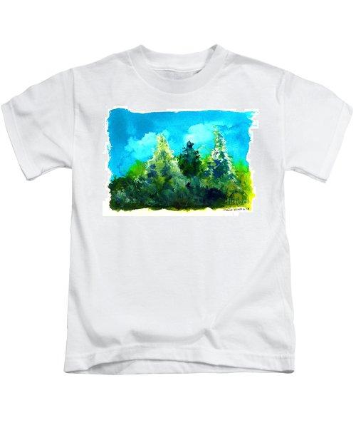Three Evergreens Kids T-Shirt