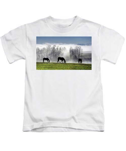 Three Horse Morning Kids T-Shirt