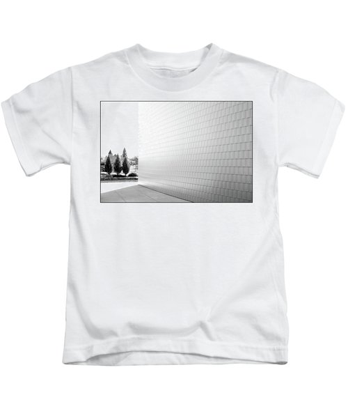 Three Trees And A Wall Kids T-Shirt