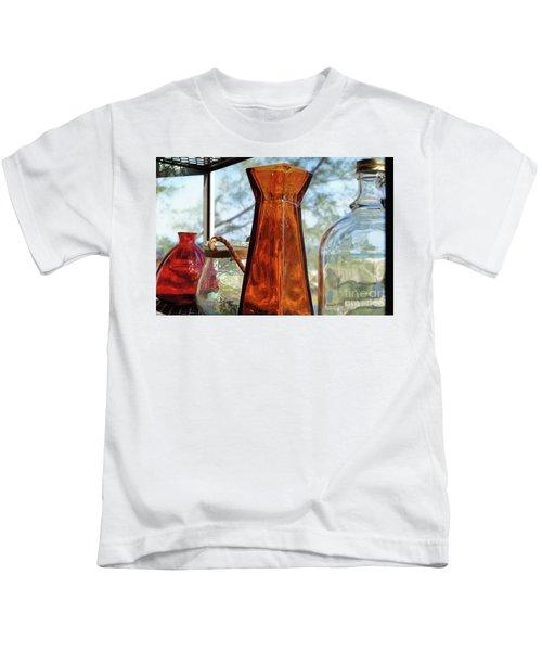 Thru The Looking Glass 1 Kids T-Shirt by Megan Cohen
