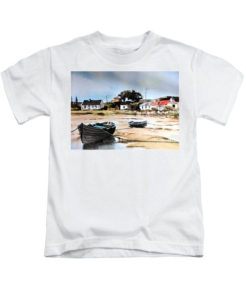 Tide Out In Erlak Roundstone Galway Kids T-Shirt
