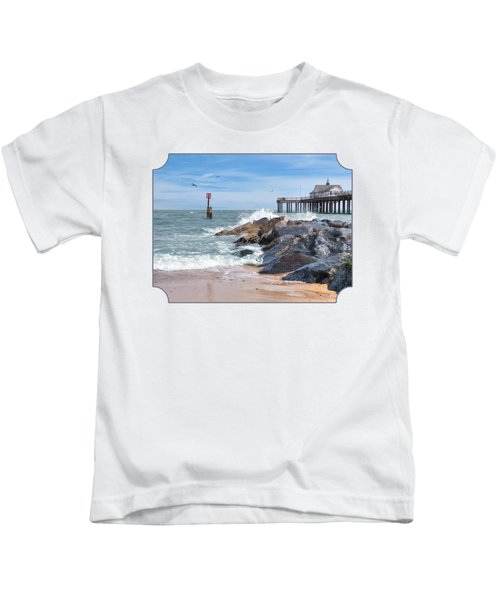 Tide's Turning - Southwold Pier Kids T-Shirt by Gill Billington