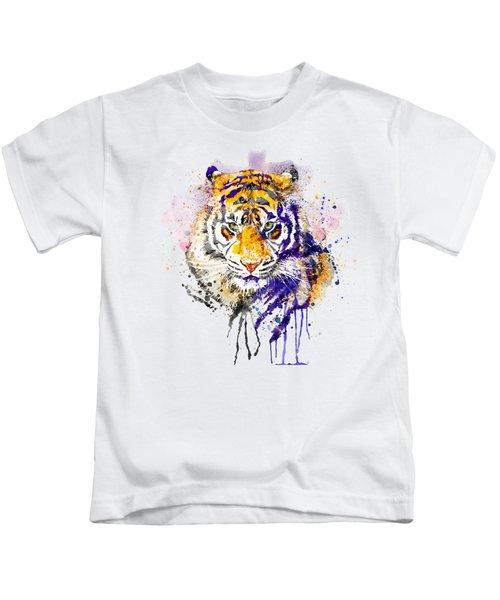 Tiger Head Portrait Kids T-Shirt