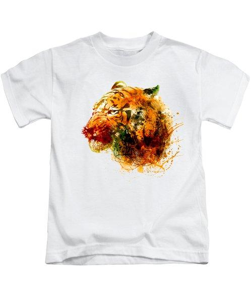 Tiger Side Face Kids T-Shirt