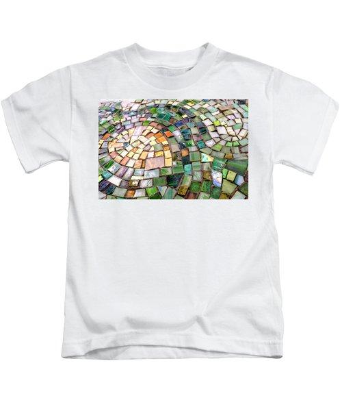 Tiles In Green Blue And Gold In Savannah Georgia Kids T-Shirt