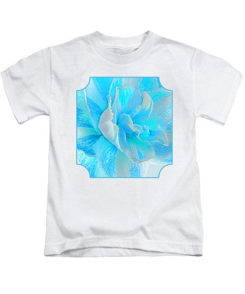 Timeless Beauty In Blue Kids T-Shirt
