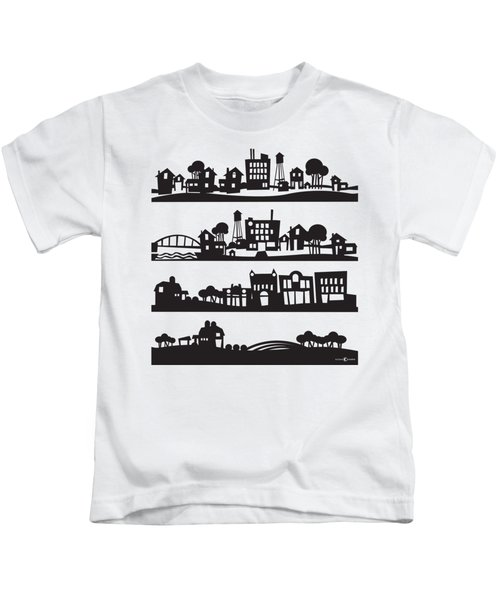 Tinytown Stacked Kids T-Shirt
