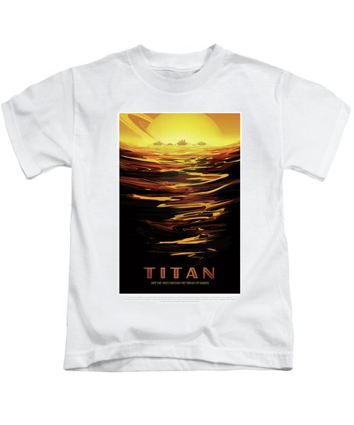 Titan - Ride The Tides Through The Throat Of Kraken - Vintage Na Kids T-Shirt
