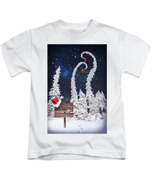 To The North Pole Kids T-Shirt
