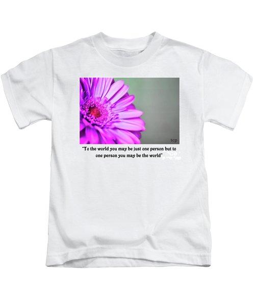 To The World Kids T-Shirt