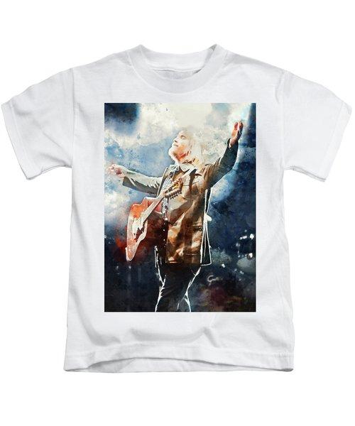 Tom Petty - Watercolor Portrait 13 Kids T-Shirt