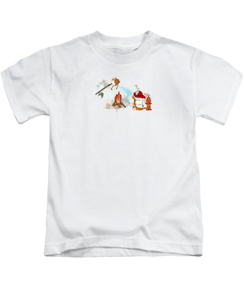 Too Toasted Illustrated Kids T-Shirt
