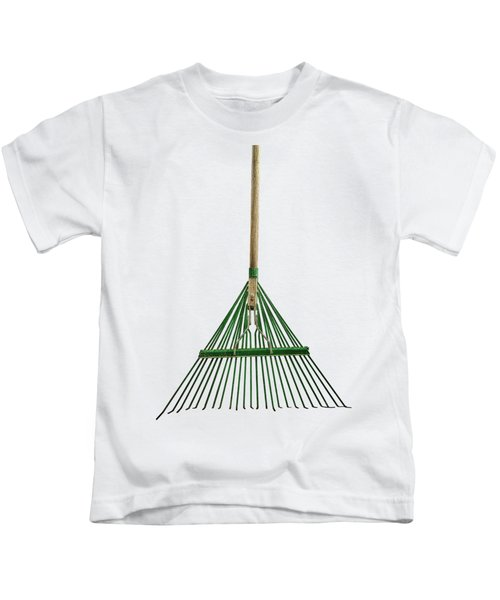 Tools On Wood 10 On Bw Kids T-Shirt by YoPedro