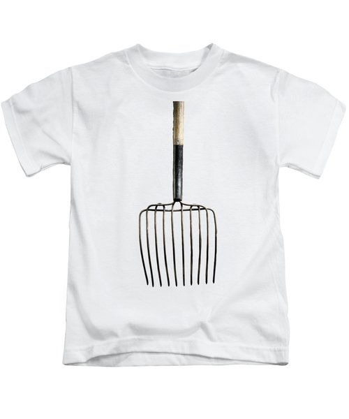 Tools On Wood 25 On Bw Kids T-Shirt