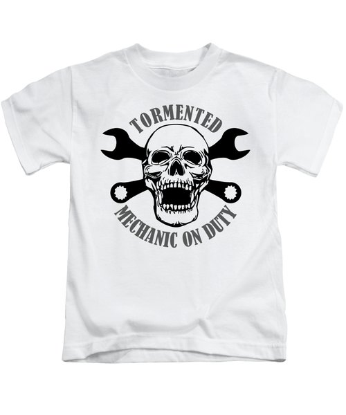 Tormented Mechanic Kids T-Shirt