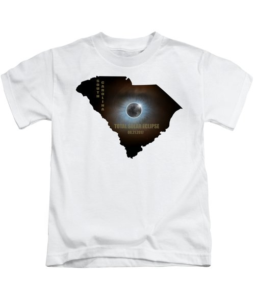 Total Solar Eclipse In South Carolina Map Outline Kids T-Shirt