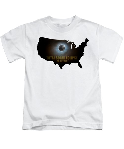 Total Solar Eclipse In United States Map Outline Kids T-Shirt