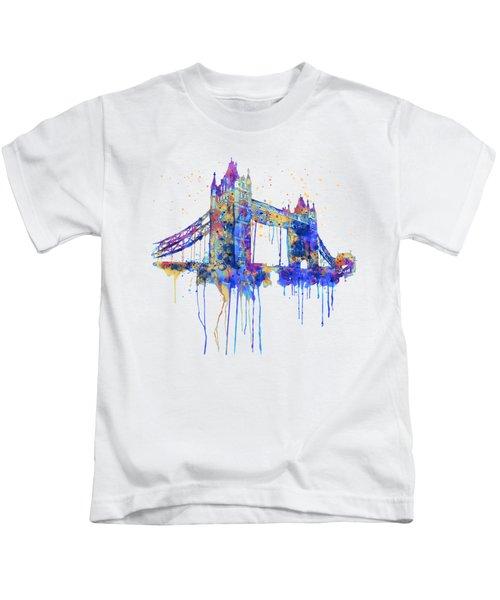 Tower Bridge Watercolor Kids T-Shirt