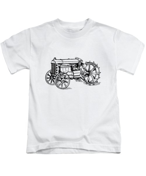 Kids T-Shirt featuring the photograph Tractor 1919 Henry Ford T-shirt by Edward Fielding
