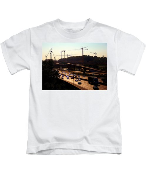 Traffic And Cranes Kids T-Shirt