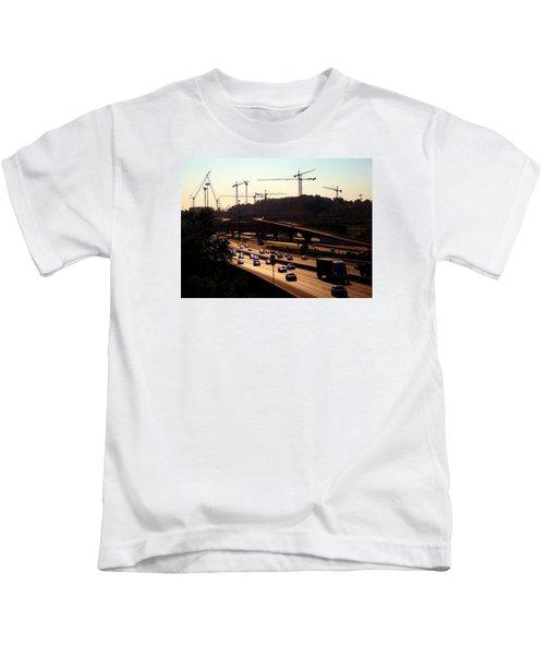 Traffic And Cranes Kids T-Shirt
