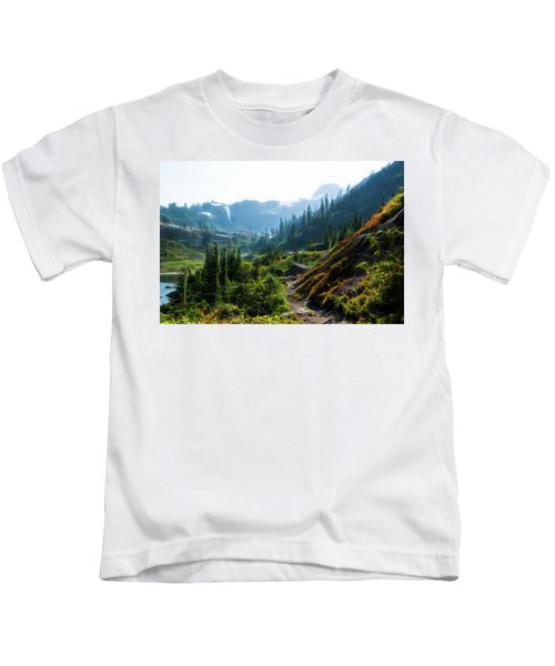 Trail In Mountains Kids T-Shirt