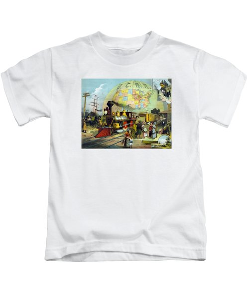 Transcontinental Railroad Kids T-Shirt by War Is Hell Store