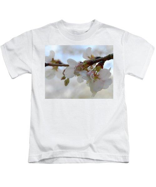 Dogwood Branch Pink Kids T-Shirt