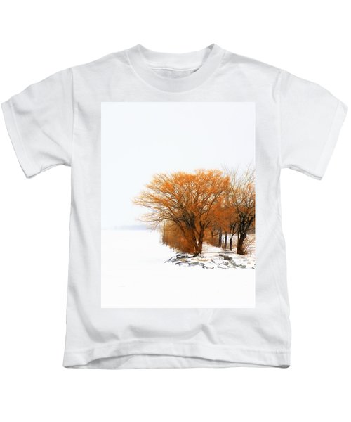 Tree In The Winter Kids T-Shirt