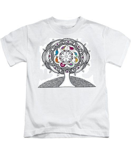 Tree Of Life - Ink Drawing Kids T-Shirt