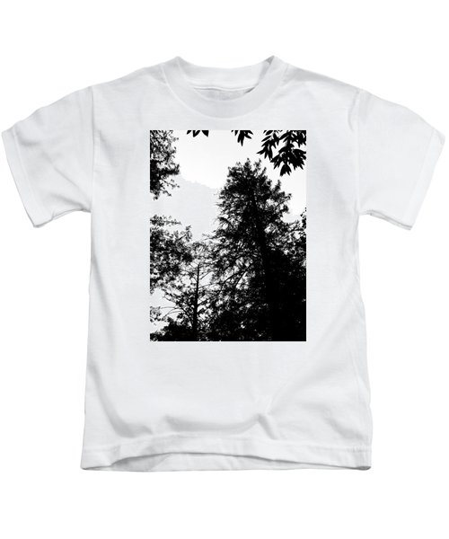 Tree Tops In Monotone Kids T-Shirt