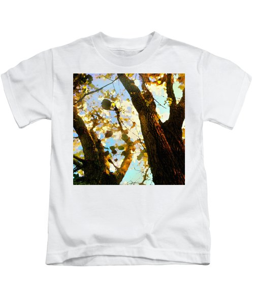 Treetop Abstract-look Up A Tree Kids T-Shirt