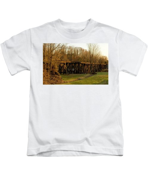 Tressel View Sunset  Kids T-Shirt