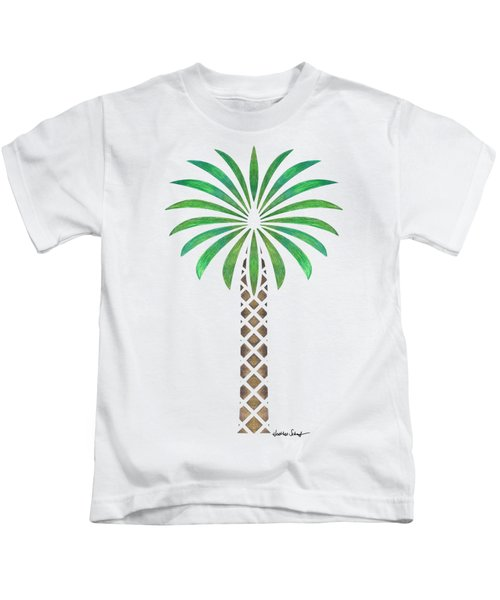 Tribal Canary Date Palm Kids T-Shirt