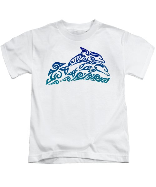 Tribal Dolphins Kids T-Shirt