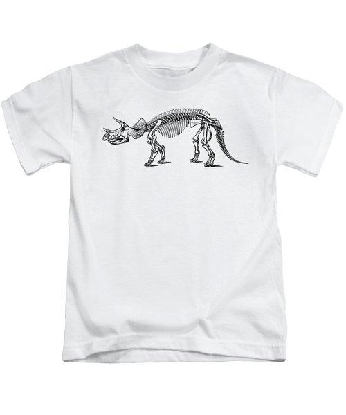 Triceratops Dinosaur Tee Kids T-Shirt by Edward Fielding