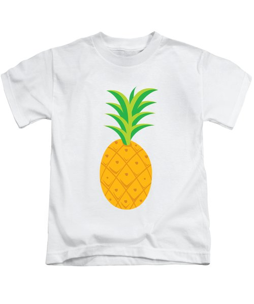 Tropical Fruits Ananas Pineapple Kids T-Shirt by MGdezigns