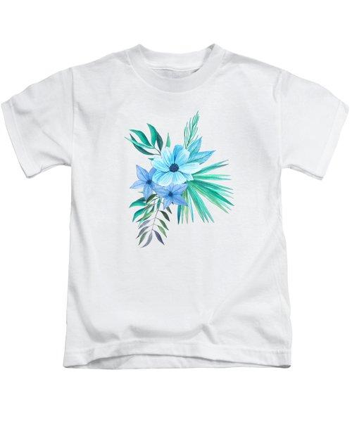 Tropical Watercolor Bouquet 10 Kids T-Shirt