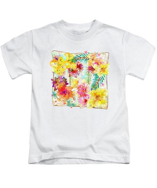 Tropicana Abstract By Kaye Menner Kids T-Shirt by Kaye Menner