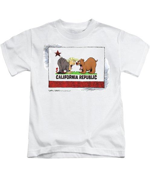 Trump And California Face Off Kids T-Shirt