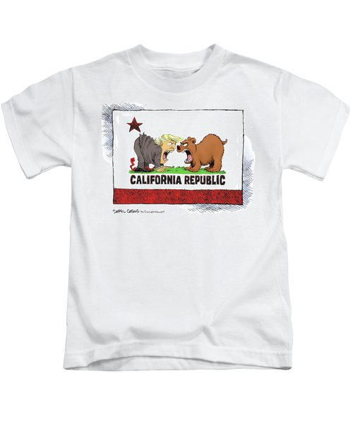Trump And California Face Off Kids T-Shirt