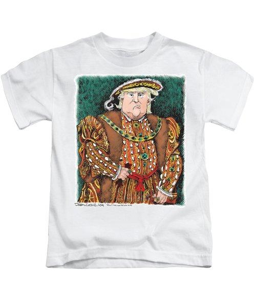 Trump As King Henry Viii Kids T-Shirt