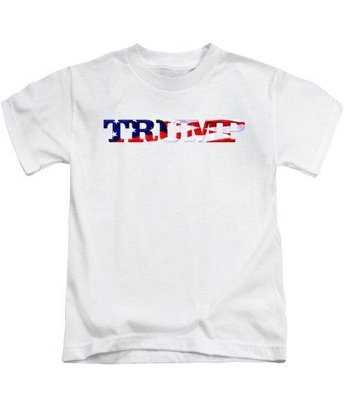 Trump - Fort Mchenry Flag Overlay Kids T-Shirt